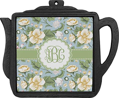 Vintage Floral Teapot Trivet Personalized
