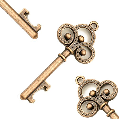Hapwedding Rustic Vintage Key Shaped Bottle Opener for Wedding Favors 50PCS