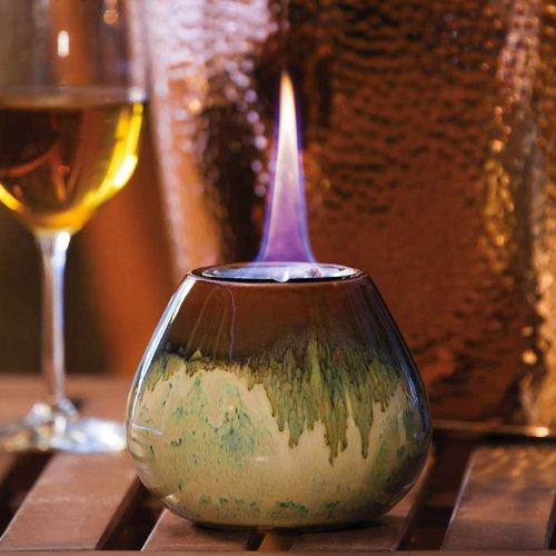 Green Calm Earth Tones Ceramic Firepot