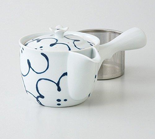 Saikai Pottery Flower pattern Kyusu Japanese Teapot with super stainless strainer from Japan 73457