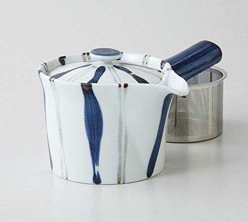 Saikai Pottery Togusa pattern Kyusu Japanese Teapot with super stainless strainer from Japan 60188