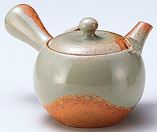 Yamakiikai Tokoname pottery Grey Orange KyusuJapanese teapot with a strainer 300cc GL1894 from Japan