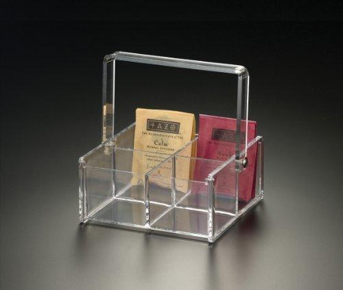 4 Compartment Tea Bag Caddy Acrylic
