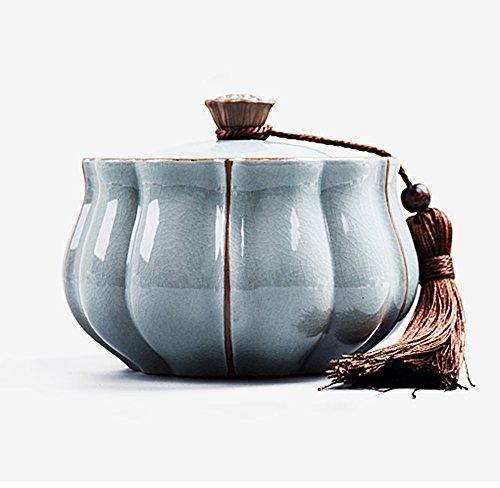 Handmade ceramic tea caddy Puer tea caddy Tea cans Kung Fu Tea lotus