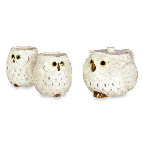 Owl Ceramic Tea Set Snow