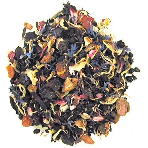 English Tea Store Loose Leaf Tutti Fruity Caffeine Free Herbal Tea for Kids Pouches 4 Ounce