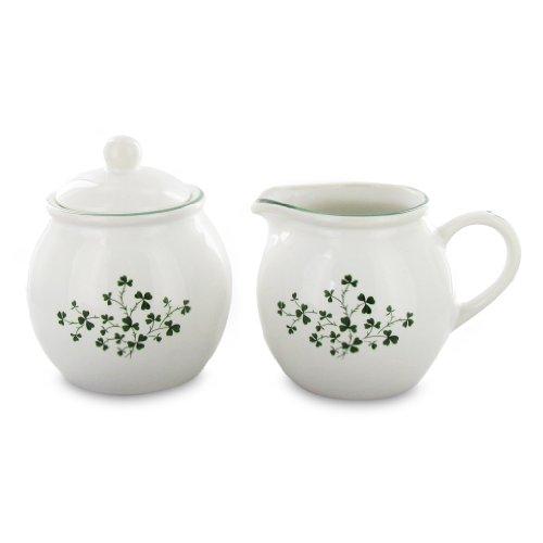 English Tea Store Shamrock Sugar Creamer Set