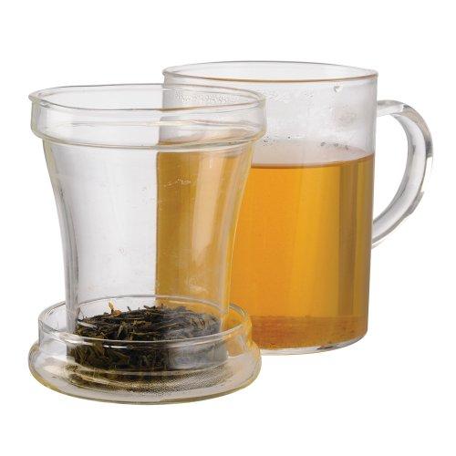 Primula Glass Mug with Loose Tea Infuser 12-Ounce
