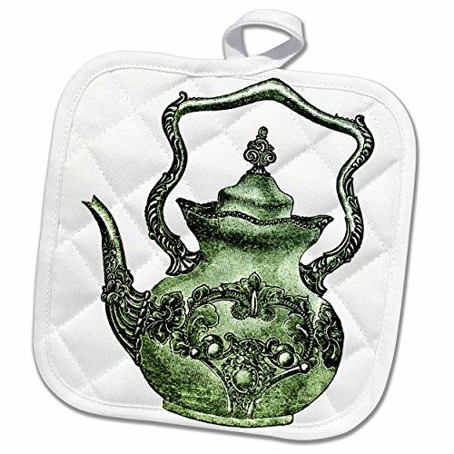 3dRose TNMPastPerfect Household - Vintage Teapot - 8x8 Potholder phl_56064_1
