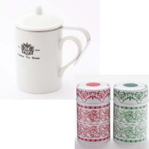 Timagu tea set B tea strainer with the mug  original  Durr cans red green tea set 2-3