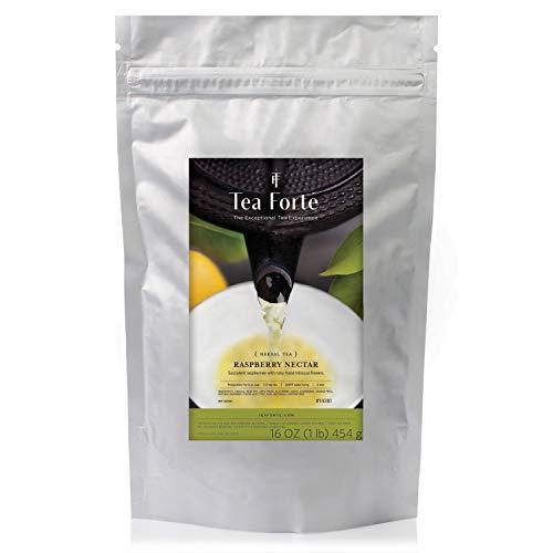 Tea Forte Organic Herbal Tea Makes 160-170 Cups 1 Pound Pouch Loose Bulk Tea Raspberry Nectar