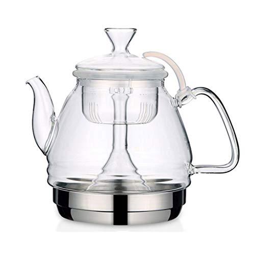 FJH Kettle Glass Stovetop Teakettle 1L Kettle Transparent Filter Teapot Boiled Water Induction Cooker 211812cm