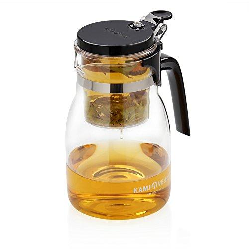 KAMJOVE Glass Gongfu Press Art Cup Teapot with filter K-205 900ml