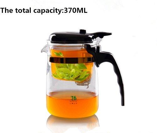 Top Grade Automatic Glass Tea Cupteapot with Filter Tank 370ml