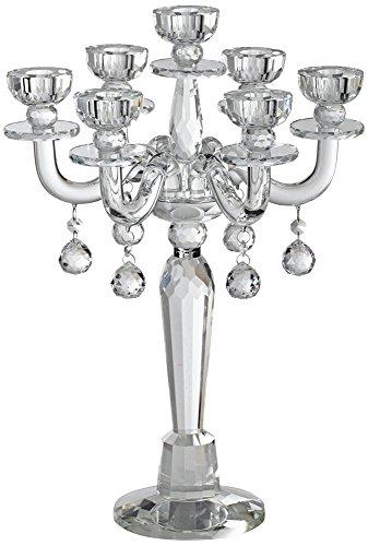 Dahlia Studios Huntington 19 High Crystal Candelabra Taper Candle Holder