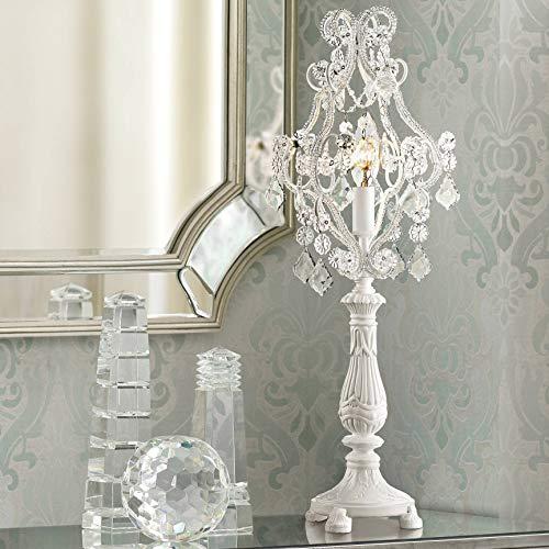 Fay White 19 12 High Crystal Candelabra Table Lamp - Regency Hill