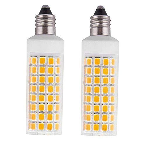 Kinglight E11 Led Bulb 75w 100w Equivalent Dimmable JD E11 Mini Candelabra Base AC110V 120V 130V T3T4 360 Degree Beam Angle for Indoor Decorative LightingWarm White 2-Pack