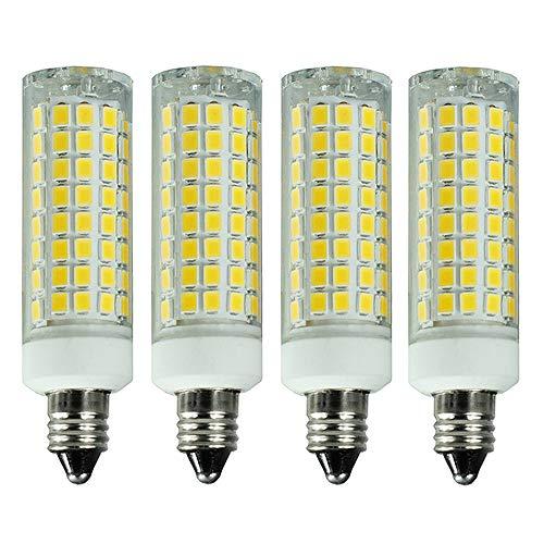 XYTGD LED E11 Bulb 8W E11 Led Bulb Equivalent 100W 75W Halogen Bulb Dimmable AC110V 120V130V 75w 100w led JD T3T4 Mini Candelabra Base Soft Daylight White 6000K【4Pack】