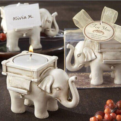 Windspeed Elephant Antique Ivory-Finish Tea Light Holder Tea Light Candle Stand Decor