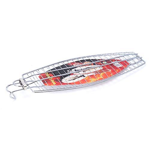 KUKALE Barbecue Grilling Basket - Hangable Grilled Folder for FishVegetables SteakShrimp Chops BBQ Picnic Tools