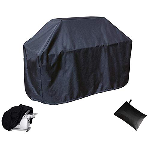 SDYOO Premium BBQ Grill Cover Oxford Cloth Dust-Proof Waterproof Anti-UV Cold-Resistant Outdoor BBQ Grill Cover Black170x61x117cm