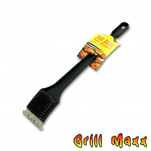 Grill Brush wScraper Extra Long 18 Handle and Sturdy Metal Bristles Make It Easy To Clean Hard To Reach Areas of The Barbecue Pit