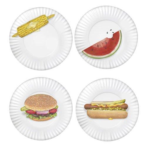 Mary Lake-Thompson Set of 4 BBQ Plates MZ 1220 PP