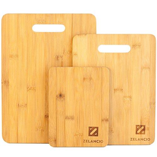Zelancio Bamboo Cutting Board Set | Set Of 3 Boards