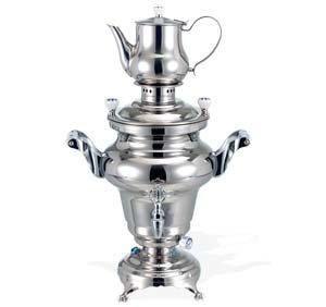 Beem Odessa Iii, Stainless Steel Samovar, 3 Liters, Silver