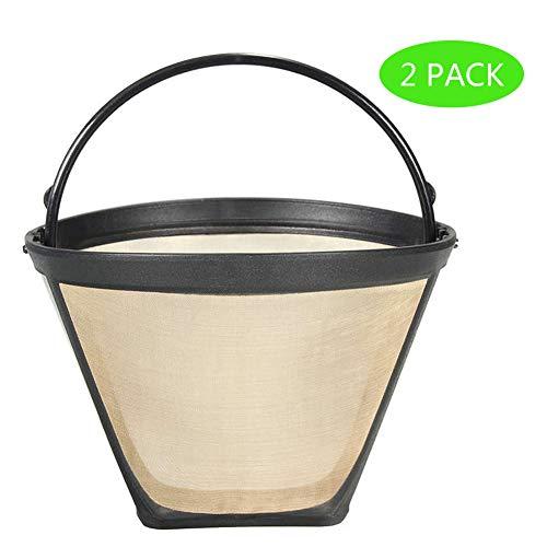 2PCS 4 Cone Reusable Coffee Filters for Ninja Hamilton Beach Coffee Maker