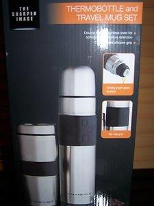 Sharper Image Stainless Steel Thermobottle Travel Mug Set