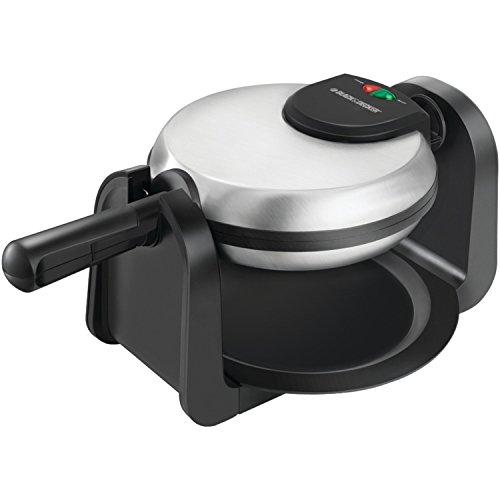 Black & Decker Wm1404s Flip Waffle Maker, Silver