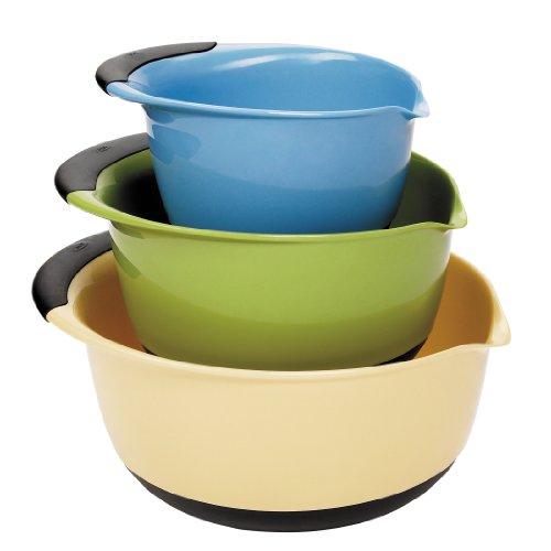 Oxo Good Grips 3-piece Mixing Bowl Set, Blue/green/yellow