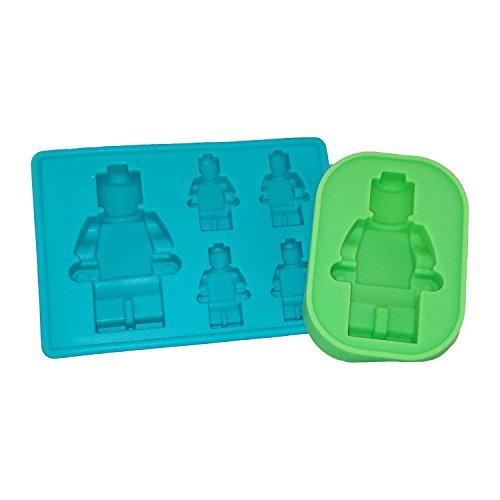 Multi Sized Lego Silicone Minifigure Gummy Candy Cake Baking Jello Mold Ice Cube Trays