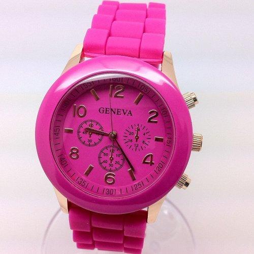 PromiseU Womens Silicone Band Jelly Gel Quartz Wrist Watch