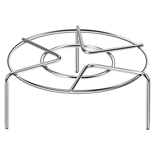 Lakatay Round Steamer Rack StandHeavy Duty Stainless Steel Steamer Basket for Instant PotPressure Cooker Accessories 62 Diameter X236High