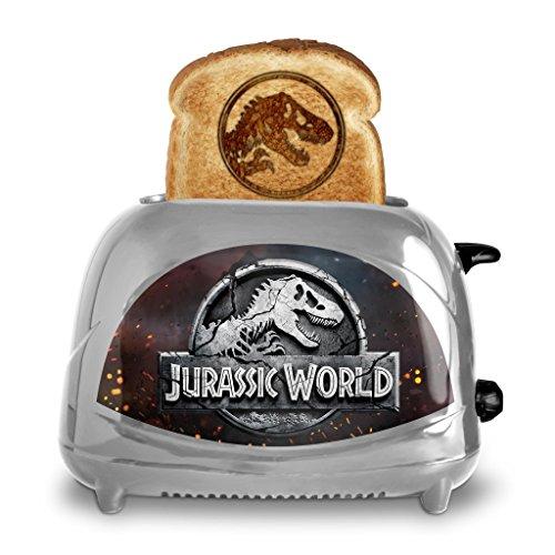 Uncanny Brands Jurassic World 2-Slice Toaster- Toasts Jurassic Dinosaur Logo onto Your Toast