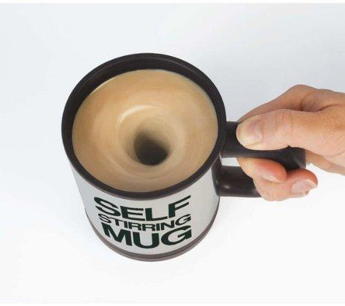 Alinshi Self Stirring Mug - Automatic Coffee Cup Black
