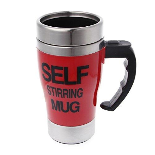 BetterM Muilti- purpose Stainless Steel self stirring Coffee Milk Mug Red