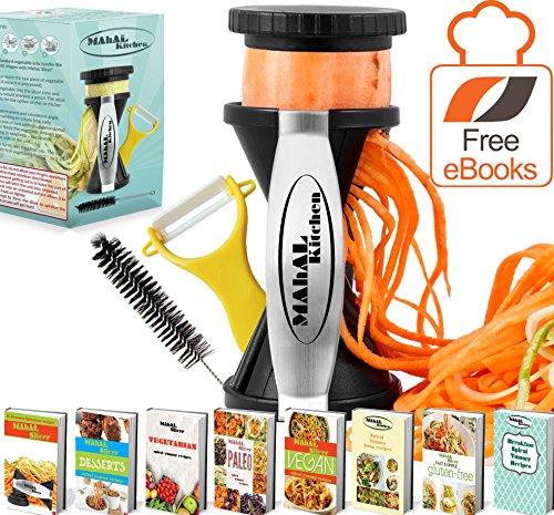 Spiral Slicer Spiralizer Complete Bundle - Vegetable Cutter And Pasta Maker With Vegetable Peeler, Flexible Cleaning