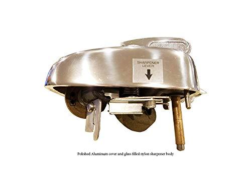 Sharpener Assembly and Cover Polished Aluminum for Berkel Slicers 808-817