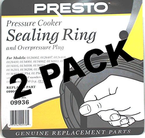 2 Pk Presto Pressure Cooker Sealing Ring Gasket 09936