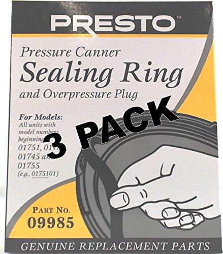 3 Pk Presto Pressure Cooker Sealing Ring 09985