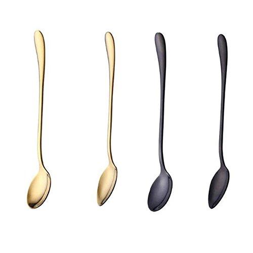 Koolemon Cocktail Stir SpoonsLong-handled Ice Tea SpoonStainless Steel Coffee Spoons Set of 8