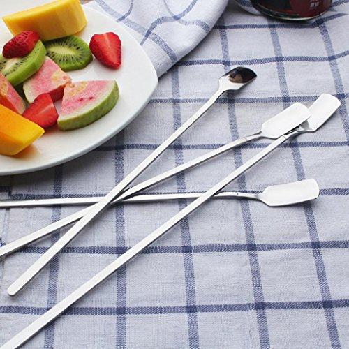 Stir Spoon Sacow Stainless Steel Ice Cream Cocktail Teaspoons Coffee Soup Tea Spoons Long Handle Spoons L