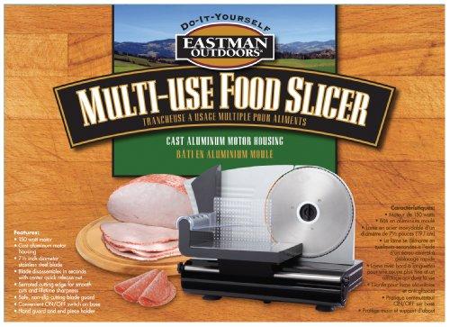 Eastman Outdoors 38253 Multi-use Motor Electric Food Slicer, 150-watt