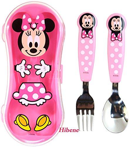 Disney Kids Spoon Fork Case Set Minnie Mouse