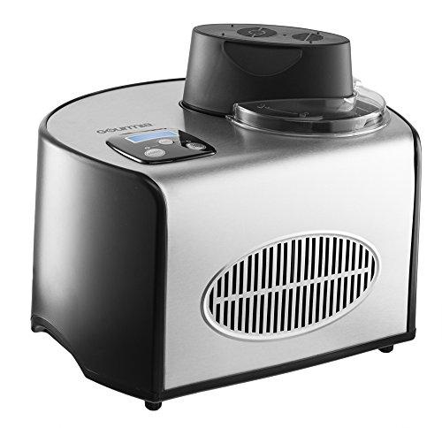 Gourmia Gsi-200 Stainless Steel 1.6 Quart Sleekserve Automatic Ice Cream Maker-gelato, Sorbet And Frozen Yogurt