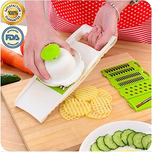 Kingmak Creative Multi-function Kitchen Tool Vegetables Fruits Chopper Shredder Cut Slicer Set