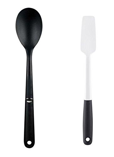 OXO Good Grips Nylon Spoon and Silicone Jar Spatula Set of 2